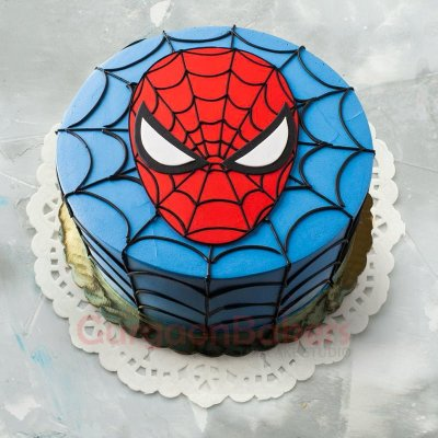 spiderman mask cake