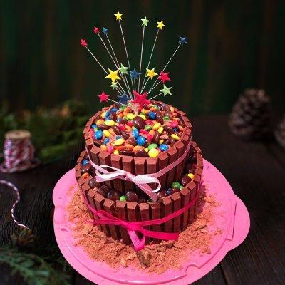 starburst kitkat cake