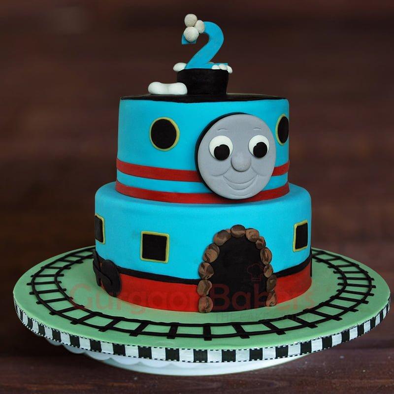 Order For Thomas Train Birthday Cake Gurgaon Gurgaonbakers