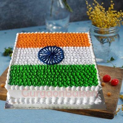 tricolour flag cake
