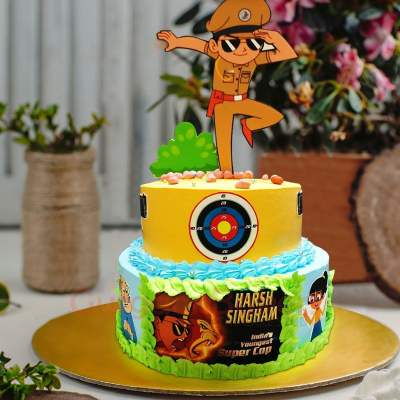 action packed little singham cake