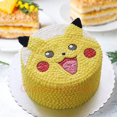 fluffy pikachu cake