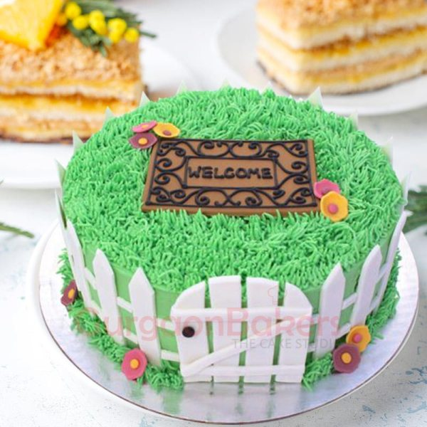 house in the woods cake