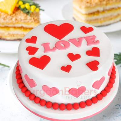 only hearts cake