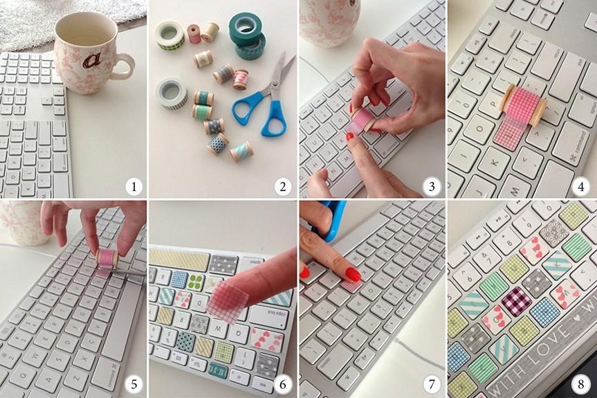 Washi Tape Keyboard Upgrade Tutorial