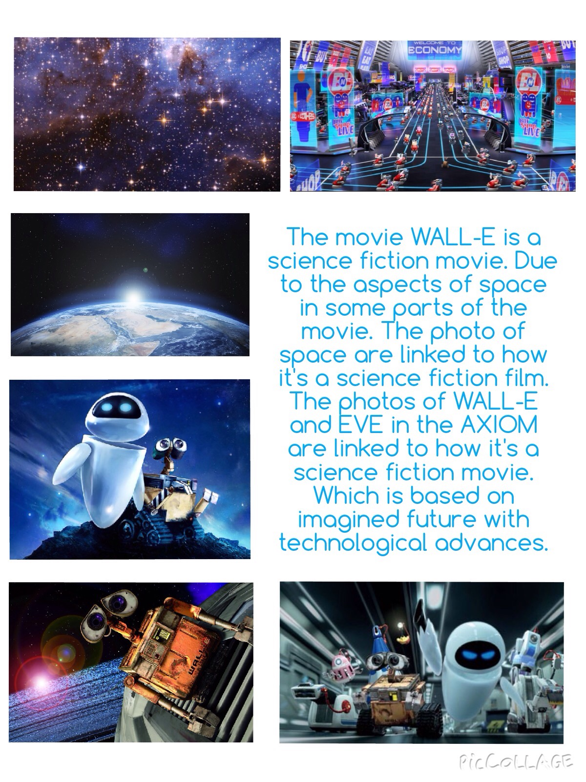 Wall E Science Fiction Movie Poster Task 4