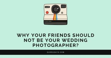Why your friends should not be your wedding photographer