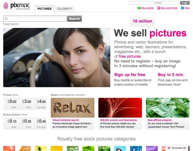 Pixmac Homepage
