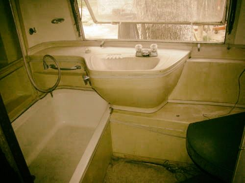 Bathtub in an Airstream