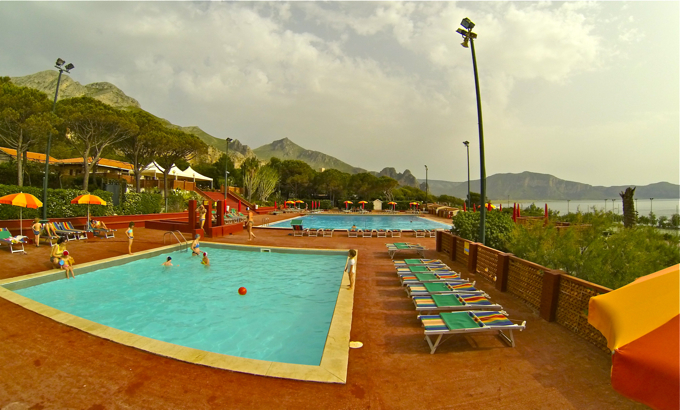 swiming pool in camp