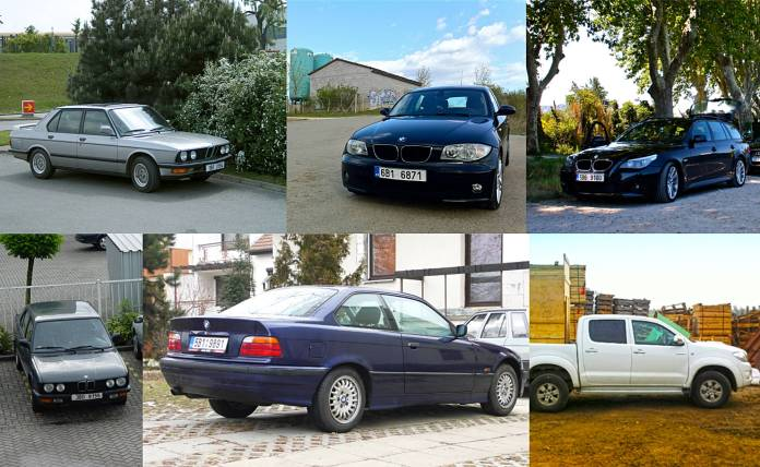 All my former BMWs