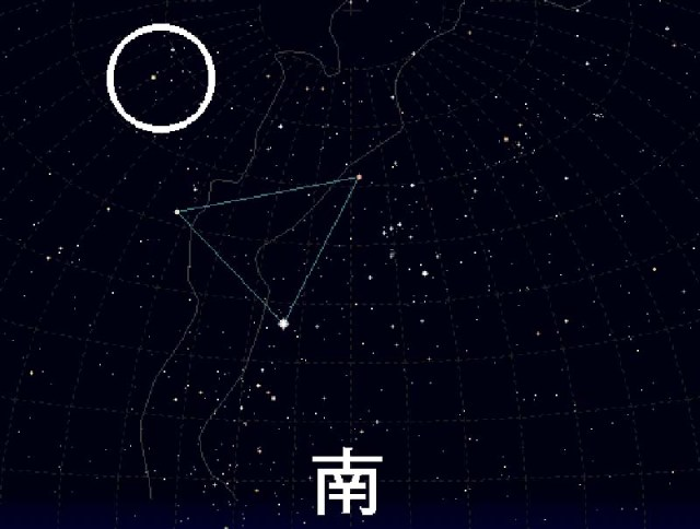 ふたご座流星群の場所
