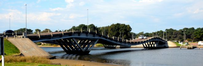 Bridge between Punta del Este and La Barra