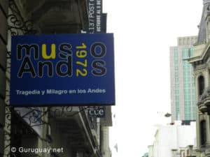 Andes 1972 Museum sign