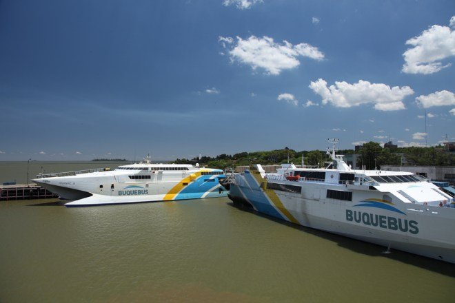 Ferries in Colonia, Uruguay by Liam Quinn