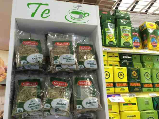 Uruguay medicinal teas are found in most supermarkets during the winter. Photo by Guru'Guay