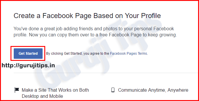 Facebook Profile To Page Migration