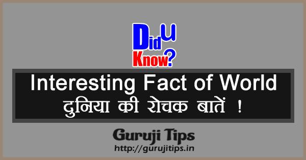 Interesting fact of world