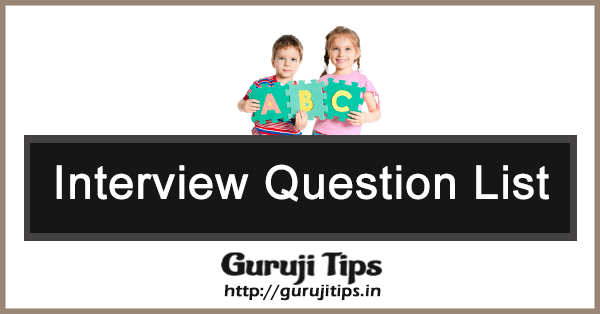Interview Question List