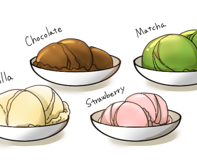 Generous Scoops Of Strawberry Vanilla Chocolate And Matcha Green Tea Ice Cream Are All Popular Fillings And Can Make An Ordinary Street Food Dessert