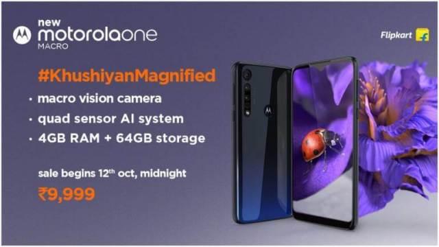 Motorola One Macro Prices specification India