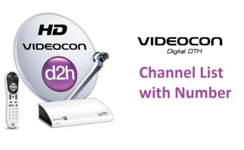 Videocon d2h Channel List with Number