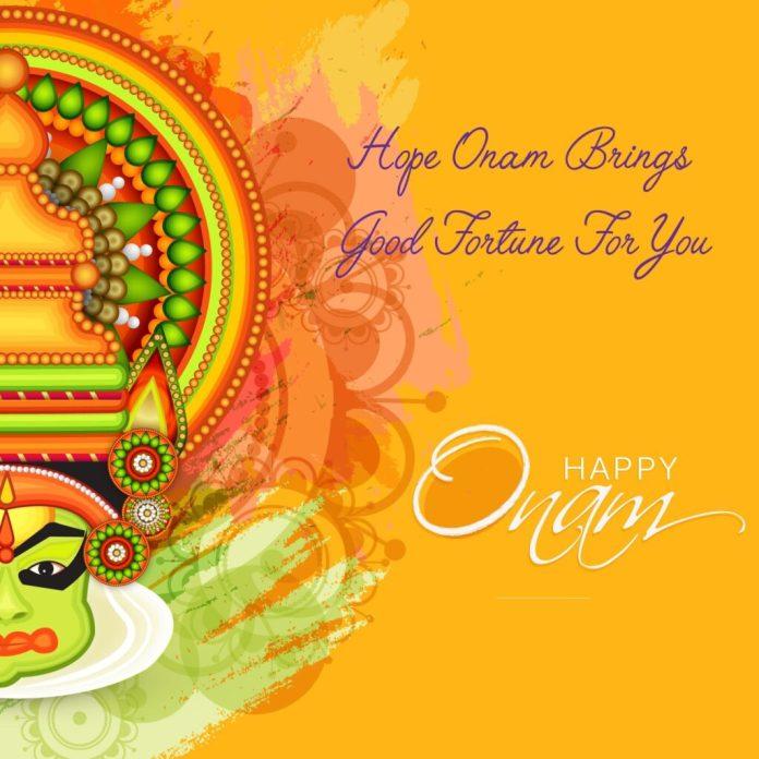 onam harvest festival wishes status message