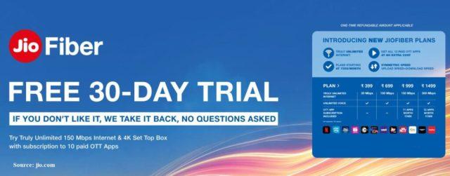jiofiber 30 days trial