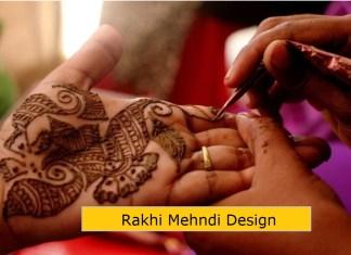 Rakhi mehndi design for raksha bandhan