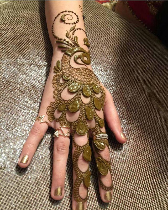 rakhi special mehndi design