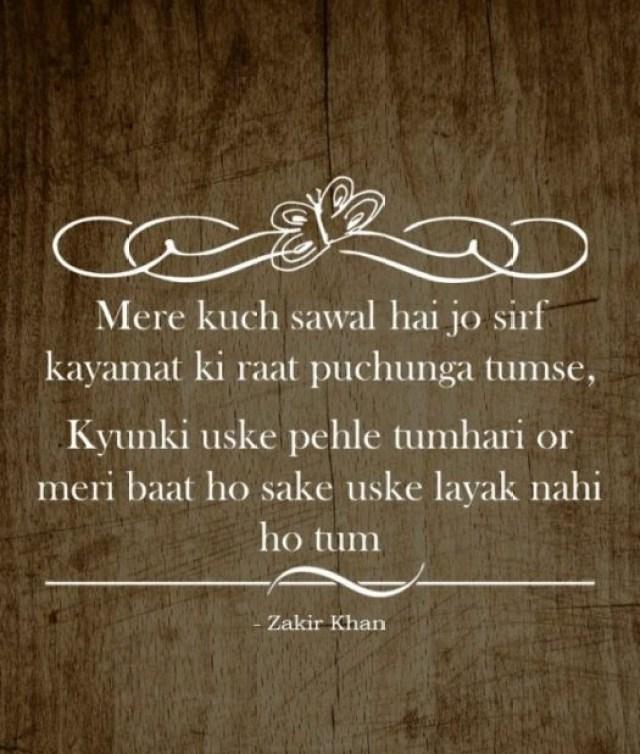 best of zakir khan shayari