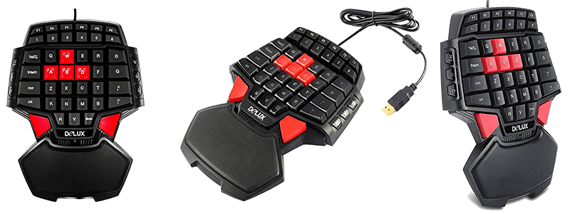 delux t9 46 key wired gaming keyboard