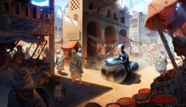 Market, Deviantart, by Detkef