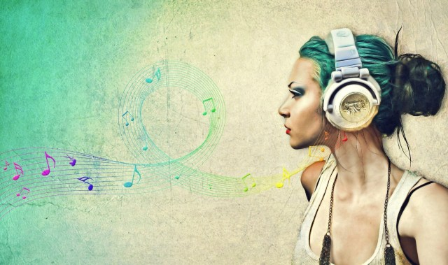 Girl-Music-Wave-Art-Wallpaper
