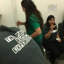 Une partie du staff (Magda, de dos, Ilaria et Saha)
