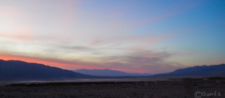 sunset over Death Valley