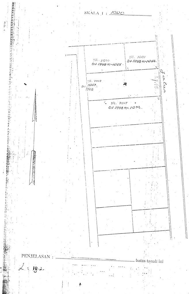 Gambar Situasi Tanah 19.2 are Dewi Sri