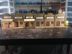 """My old west buildings for Malifaux are coming along great! I decided to name my Badlands outpost town """"Twisted Branch"""""""