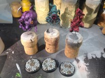 I finished off the bases for my Insidious Madnesses and have a solid start on them.