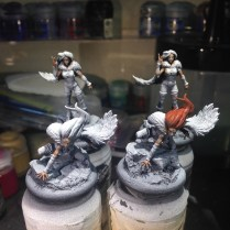 I primed my Silent Ones and have started in on them in a few spots.