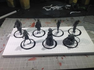 The display with the crew. Time to get some paint on it!