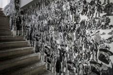 Linoleum stairway at Fine arts school© Gus Morainslie