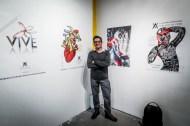 Isaac Cortes coordinator of the exhibition Arte por la vida image.