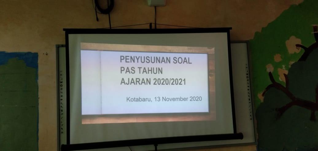 WORKSHOP PENULISAN SOAL PAS TAHUN 2020/2021