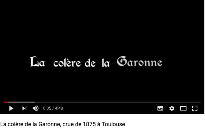 La colère de la Garonne en 1875