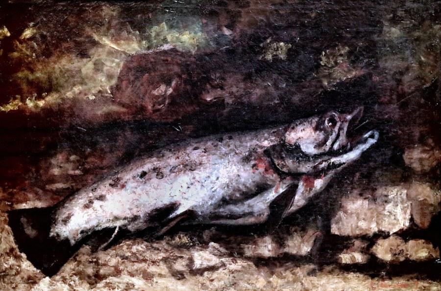 La Truite par Gustave Courbet