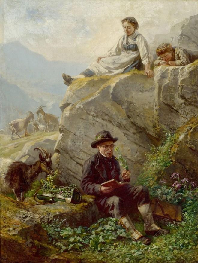 Le botaniste par Raphael Ritz (1883)