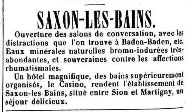 Eaux de Saxon-les-Bains