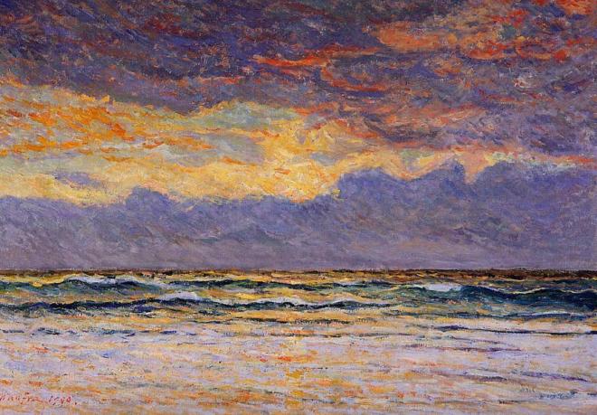 Maxime Maufra (1861-1918), Coucher de soleil, 1900
