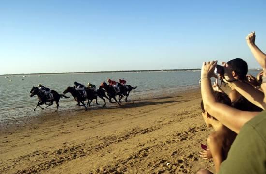 Horse Race on the Beach